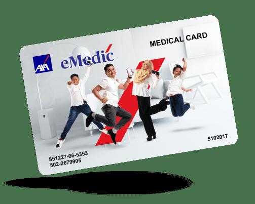 AXA eMedic medical card online