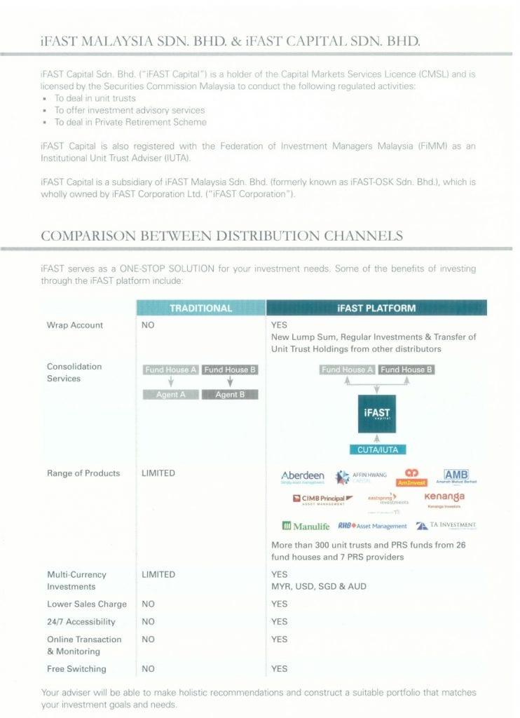 comparison of epf unit trust investment via ifast vs other platform