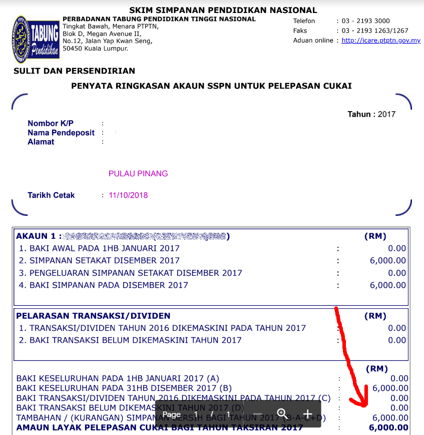 tax relief malaysia sspn