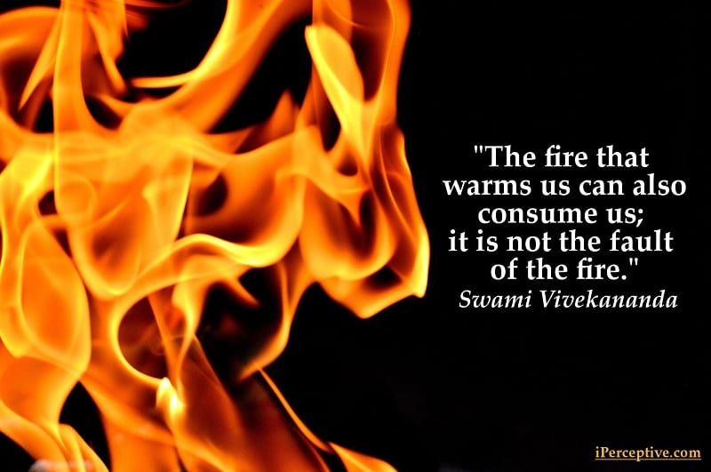 FIRE warms and consumes